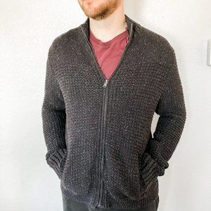 Lucky Brand Mens Knit Zip Up Sweater Size …
